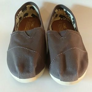 Toms Canvas in Grey Size 7